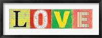 Love Panel Framed Print