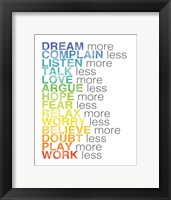 Rules to Live By 1 Framed Print
