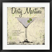 Dirty Martini Framed Print