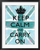Keep Calm And Carry On 4 Framed Print
