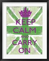 Keep Calm And Carry On 5 Framed Print