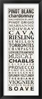 Pinot Blanc - White Framed Print