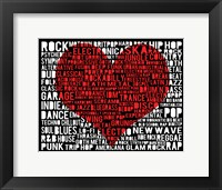 Music - New Wave 1 Framed Print