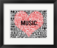 Music - New Wave 2 Framed Print