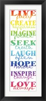 Live Fully 4 Framed Print