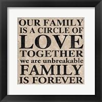 Our Family 2 Framed Print