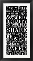 Family Rules 6 Framed Print