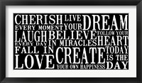 Cherish Live Dream 2 Framed Print