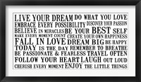 Live Your Dream 5 Framed Print