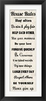 House Rules 4 Framed Print