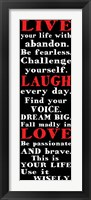 Live Laugh Love 1 Framed Print