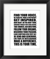 Find Your Voice 1 Framed Print