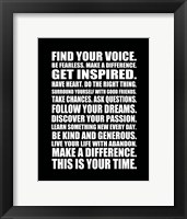 Find Your Voice 2 Framed Print