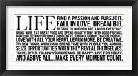 Life 4 Framed Print