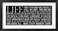 Life 5 Framed Print