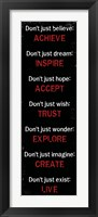 Achieve Inspire Accept 2 Framed Print