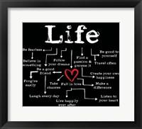 Life Chart 2 Framed Print