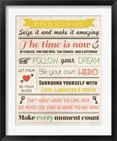 This Is Your Life 7 Framed Print