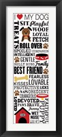 I Love My Dog 1 Framed Print