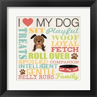 I Love My Dog 3 Framed Print