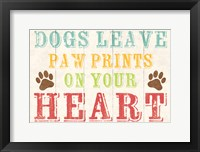 Dogs Leave Paw Prints 1 Framed Print