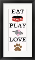 Eat Play Love - Cat 1 Framed Print