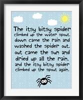 Framed Itsy Bitsy Spider