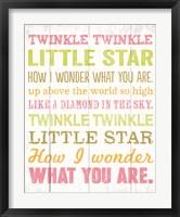 Twinkle Twinkle 1 Framed Print