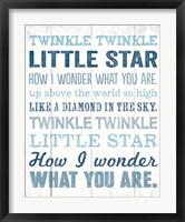 Twinkle Twinkle 2 Framed Print