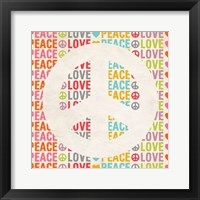 Framed Peace Love 2