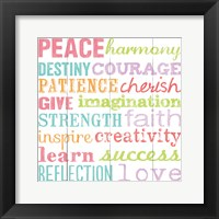 Peace Harmony Destiny Framed Print