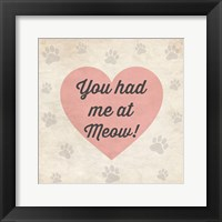 You had Me at Meow! Framed Print