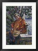 Framed Portrait of Maestro Ferruccio Busoni 1916