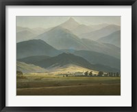 Framed Landscape with Mountains