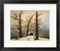 Framed Megalithic Cairn in the Snow, c. 1820