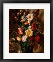 Framed Flowers in an Earthenware Pot, 1847
