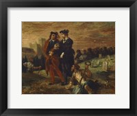 Framed Hamlet and Horatio in the Cemetery