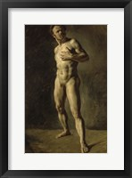 Framed Study of a Male Nude