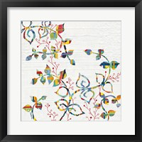 Framed Rainbow Vines with Berries
