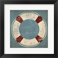 Nautical Buoy Blue Framed Print