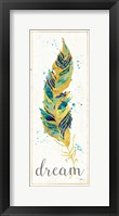Framed Waterfeathers I