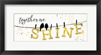 Shine Like Gold I Framed Print