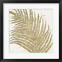 Gold Leaves I Framed Print