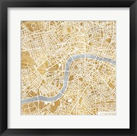 Framed Gilded London Map