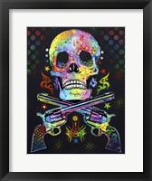 Framed Skull & Guns