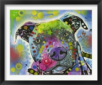 Framed Colorful Pit Bull