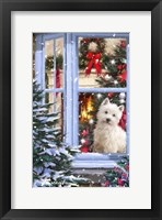 Framed Dog At Window 1