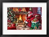 Framed Santa By Fire