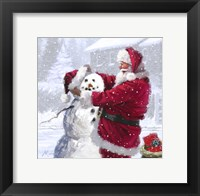 Framed Santa And Snowman 1