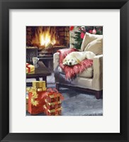 Framed Log Fire 2